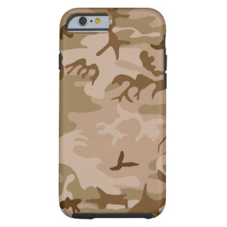 Desierto Camo - camuflaje de Brown Funda De iPhone 6 Tough
