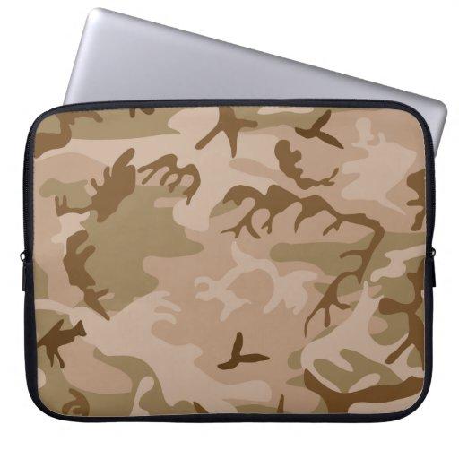 Desierto Camo - camuflaje de Brown Funda Portátil