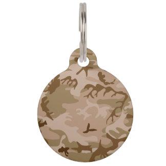 Desierto Camo - camuflaje de Brown Placa De Mascota