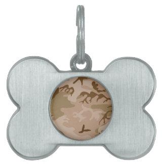 Desierto Camo - camuflaje de Brown Placas De Mascota