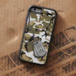 Desierto Camo con la placa de identificación Funda De iPhone 6 Tough Xtreme