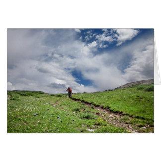 Desierto Colorado de Weminuche de la divisoria Tarjeta De Felicitación