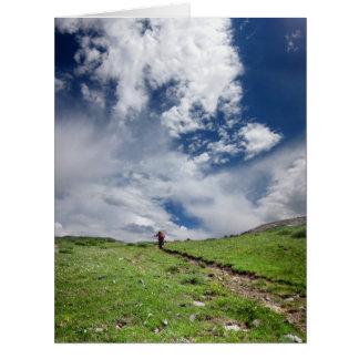 Desierto Colorado de Weminuche de la divisoria Tarjeta De Felicitación Grande