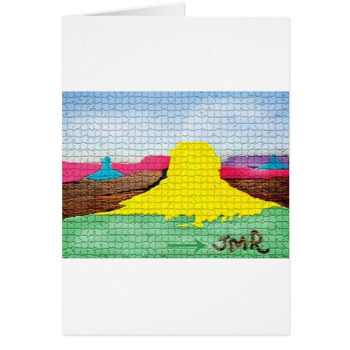 Desierto colorido felicitación
