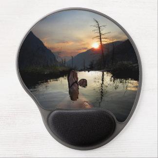Desierto de Ansel Adams de la puesta del sol de Alfombrilla Con Gel