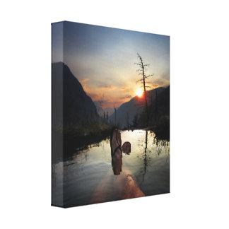 Desierto de Ansel Adams de la puesta del sol de Impresión En Lienzo