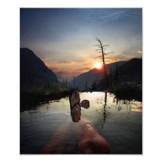Desierto de Ansel Adams de la puesta del sol de Arte Fotográfico