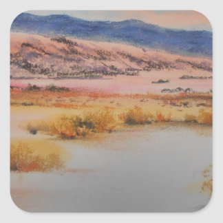 Desierto de Anzo Borrego Pegatina Cuadrada