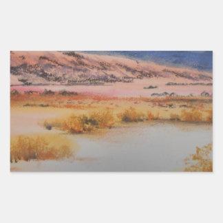 Desierto de Anzo Borrego Pegatina Rectangular