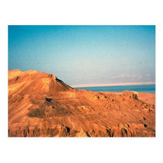 Desierto de Judean y el mar muerto Tarjeta Postal