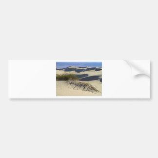 Desierto de las dunas de arena pegatina de parachoque
