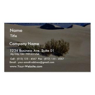 Desierto de las dunas tarjetas de visita