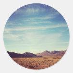 Desierto de Mojave Pegatina Redonda