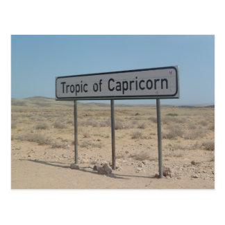 Desierto de Namib, trópico del Capricornio, Tarjeta Postal