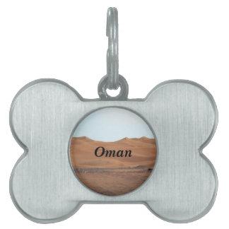 Desierto de Omán Placas Mascota