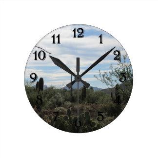 Desierto de Tucson Reloj Redondo Mediano