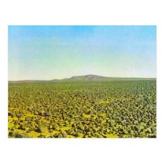 Desierto del basalto en la soda de Djebel es, Libi Tarjetas Postales