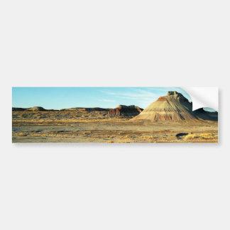 Desierto del bosque aterrorizado pegatina de parachoque