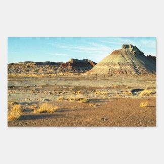 Desierto del bosque aterrorizado pegatina rectangular