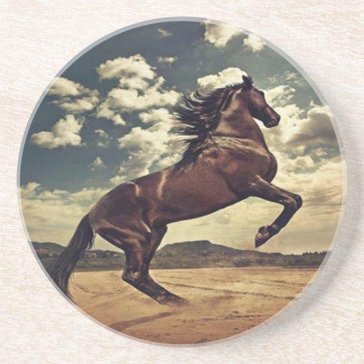 Desierto del caballo salvaje posavasos manualidades