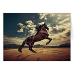 Desierto del caballo salvaje tarjetón