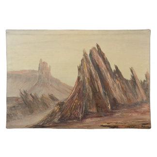 Desierto dramático Placemat Mantel