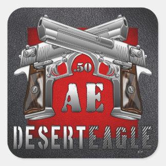 Desierto Eagle 50 AE Pegatina Cuadradas Personalizadas