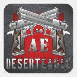 Desierto Eagle .50 AE Pegatina Cuadrada