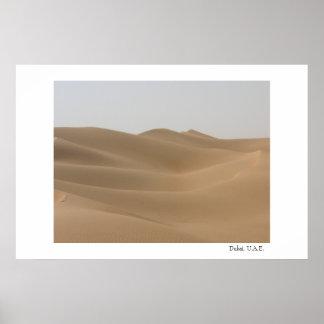 Desierto en Dubai Póster