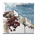 Desierto floral Doha árabe Qatar Azulejo
