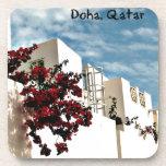 Desierto floral Doha árabe Qatar Posavasos De Bebida