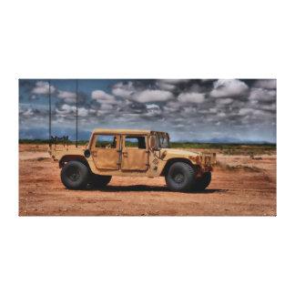 Desierto Humvee - impresión de la lona de bella ar Lona Envuelta Para Galerías