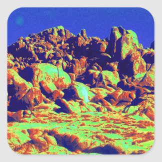 Desierto mágico 10 calcomania cuadradas