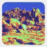 Desierto mágico 10 pegatina cuadrada