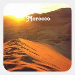 Desierto marroquí colcomanias cuadradass