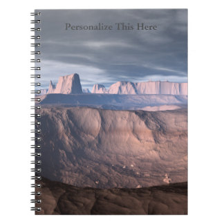 Desierto personalizado del cuaderno espiral de la