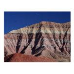 Desierto pintado al norte de la asta de bandera tarjeta postal