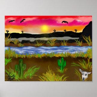 Desierto pintado poster