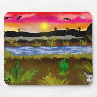 Desierto pintado tapete de ratones