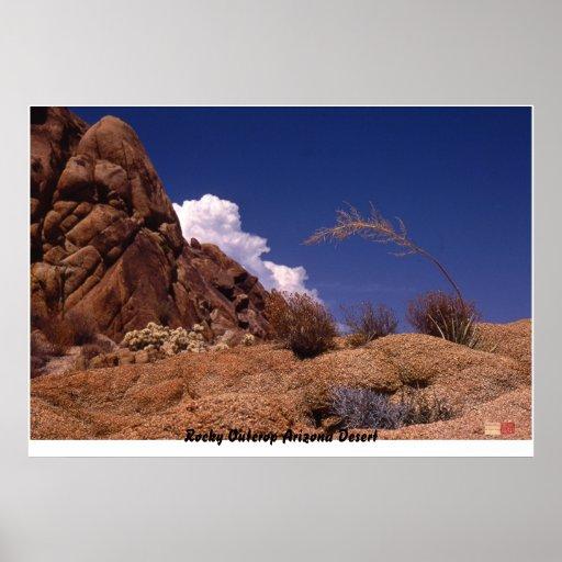 Desierto rocoso de Arizona del afloramiento Póster