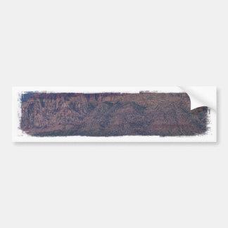 Desierto rojo de la roca etiqueta de parachoque