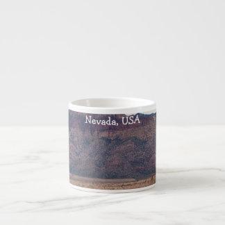 Desierto rojo de la roca; Recuerdo de Nevada Taza Espresso