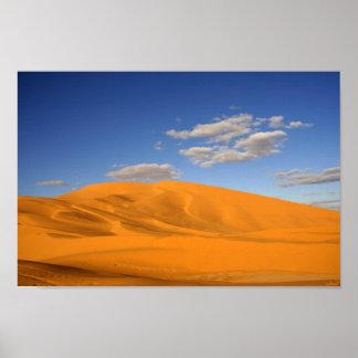 Desierto sahariano en el poster de Marruecos
