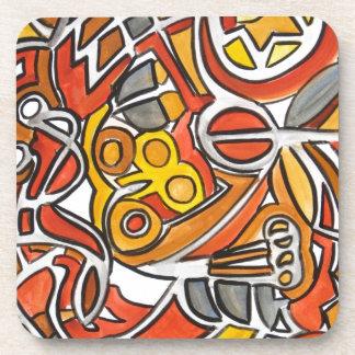 Desierto Sun - arte abstracto Posavasos