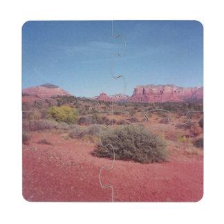 Desierto Vista Posavasos De Puzzle