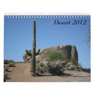 Desiertos 2012 calendario de pared
