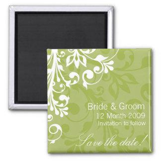 DESIGN 03 Colour: Green 2 Inch Square Magnet