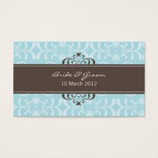 DESIGN 04- Colour: Blue & Chocolate Business Card