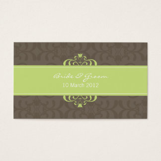 DESIGN 04- Colour: Green & Chocolate Business Card