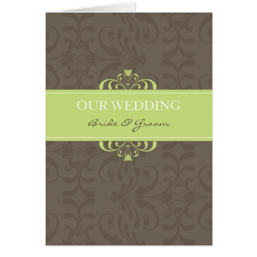 DESIGN 04- Colour: Green & Chocolate Greeting Card